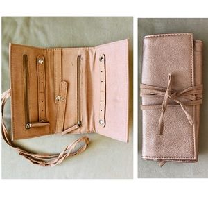 Handbags - Jewelry Roll in Rose Gold